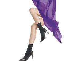 MOVE UP Damen Soeckchen Rippendesign mit Glitzerbund