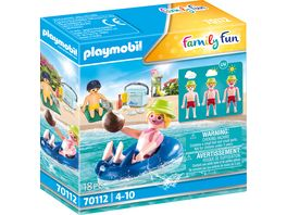 PLAYMOBIL 70112 Family Fun Badegast mit Schwimmreifen