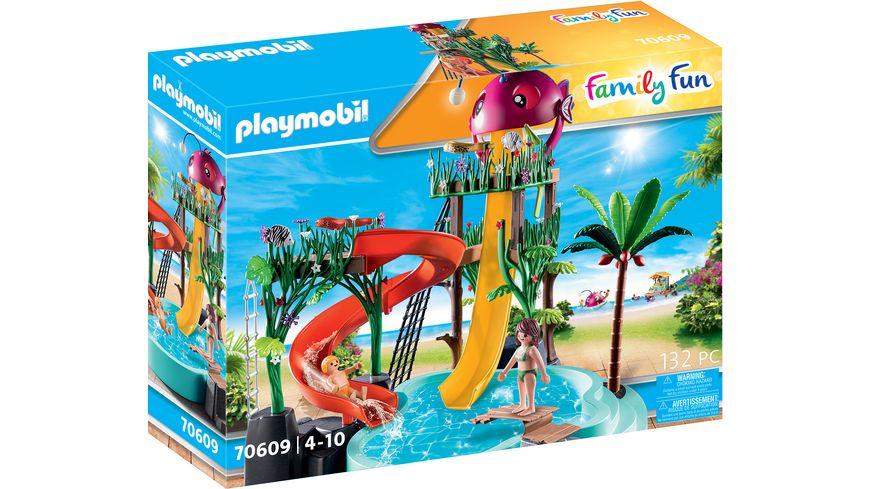 PLAYMOBIL 70609 - Family Fun - Aqua Park mit Rutschen