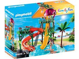 PLAYMOBIL 70609 Family Fun Aqua Park mit Rutschen