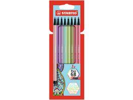 STABILO Premium Filzstift STABILO Pen 68 8er Pack mit 8 verschiedenen Farben