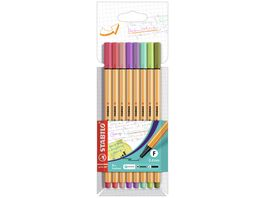 STABILO Fineliner STABILO point 88 8er Pack mit 8 verschiedenen Farben