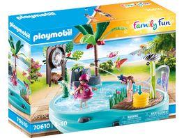 PLAYMOBIL 70610 Family Fun Spassbecken mit Wasserspritze