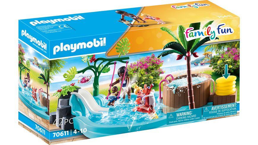 PLAYMOBIL 70611 - Family Fun - Kinderbecken mit Whirlpool