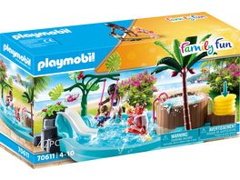 PLAYMOBIL 70611 Family Fun Kinderbecken mit Whirlpool