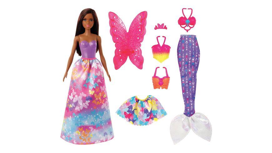 Barbie Dreamtopia 3-in1-Fantasie Spielset mit Puppe (brünett)