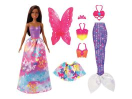Barbie Dreamtopia 3 in1 Fantasie Spielset mit Puppe bruenett