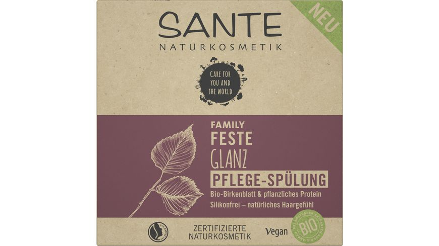 SANTE FAMILY Feste Glanz Pflege-Spülung Bio-Birkenblatt & pflanzliches Protein