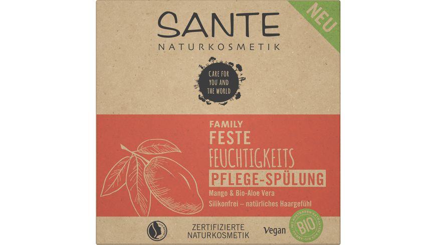 SANTE FAMILY Feste Feuchtigkeits Pflege-Spülung Mango & Bio-Aloe Vera