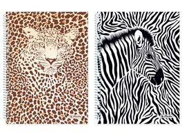 herlitz Spiralblock A5 punktkariert 2 Motive sortiert Animal Print