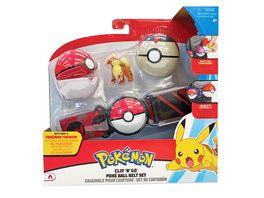 Pokemon Clip n Go Guertelset Fukano Pokeball Timerball