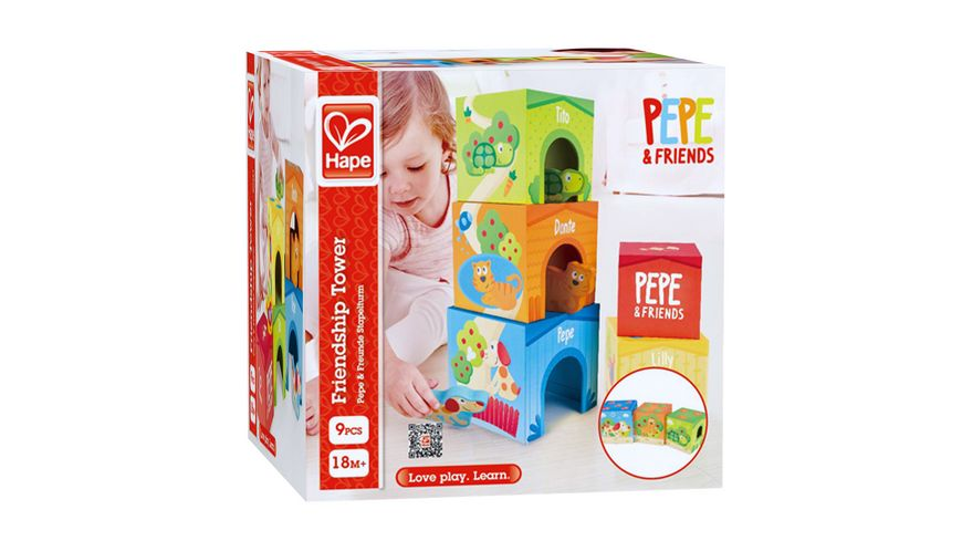 Hape Pepe & Friends Stapelturm E0451