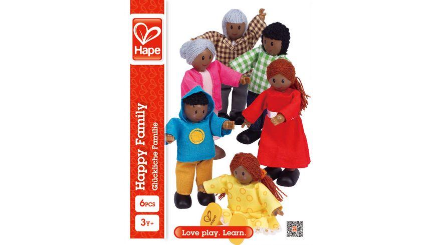 Hape Puppenfamilie – Dunkle Hautfarbe E3501