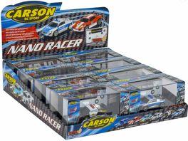 Carson Nano Racer SOS 2 fach sort 500709021 1 Stueck sortiert