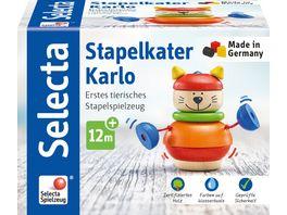 Selecta Holzspielzeug Kleinkindwelt Stapelkater Karlo 10 cm 62042