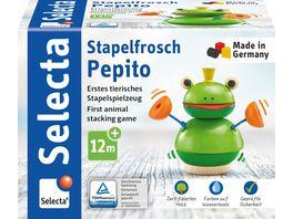 Selecta Holzspielzeug Kleinkindwelt Stapelfrosch Pepito 10 cm 62041