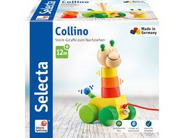 Selecta Holzspielzeug Kleinkindwelt Collino Nachzieh Stapel 18 cm 62037
