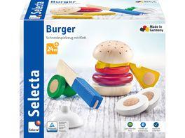 Selecta Holzspielzeug Kleinkindwelt Burger 12 Teile 62068