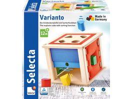 Selecta Holzspielzeug Kleinkindwelt Varianto Sortierbox 16 cm 62019