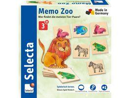 Selecta Holzspielzeug Kleinkindwelt Memo Zoo 36 Teile 63008