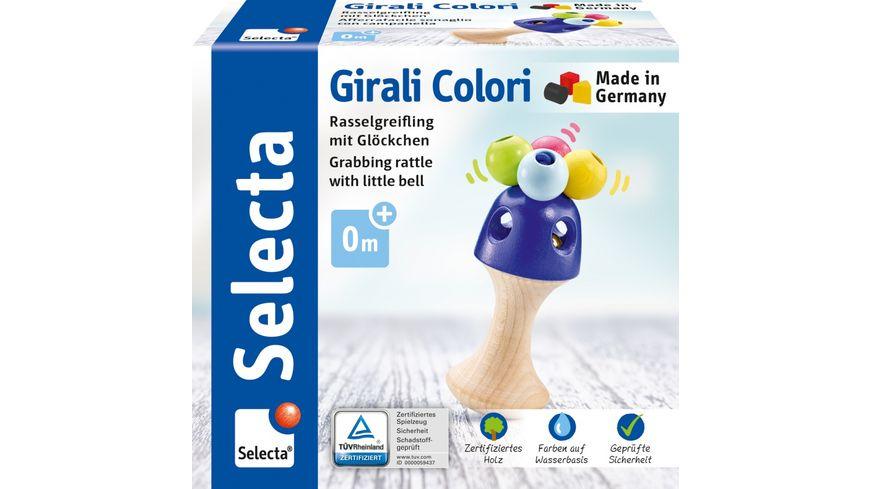Selecta Holzspielzeug Babywelt Girali Colori, Stielgreifling, 11 cm 61062