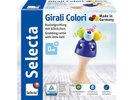 Selecta Holzspielzeug Babywelt Girali Colori Stielgreifling 11 cm 61062
