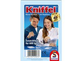 Schmidt Spiele Familienspiele Kniffelblock 30 St im Display 49067