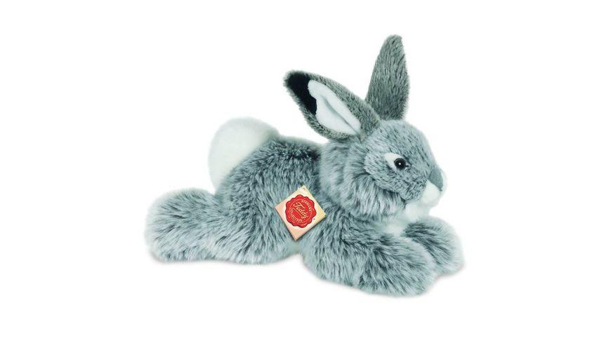 Teddy-Hermann Hase liegend grau 28 cm 937531
