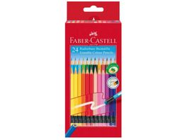 FABER CASTELL Classic Colours Radierbare Buntstifte 24er Kartonetui