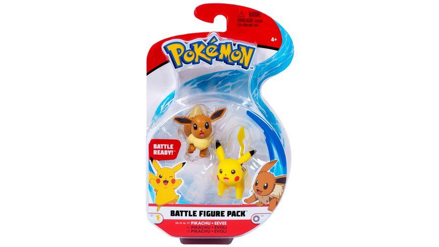 Pokémon - Battle Figure Pack - Pikachu & Evoli