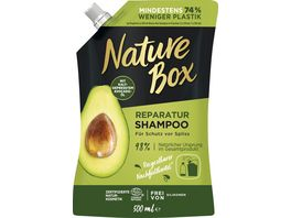 NATURE BOX Reparatur Shampoo Avocado Oel Nachfuellbeutel