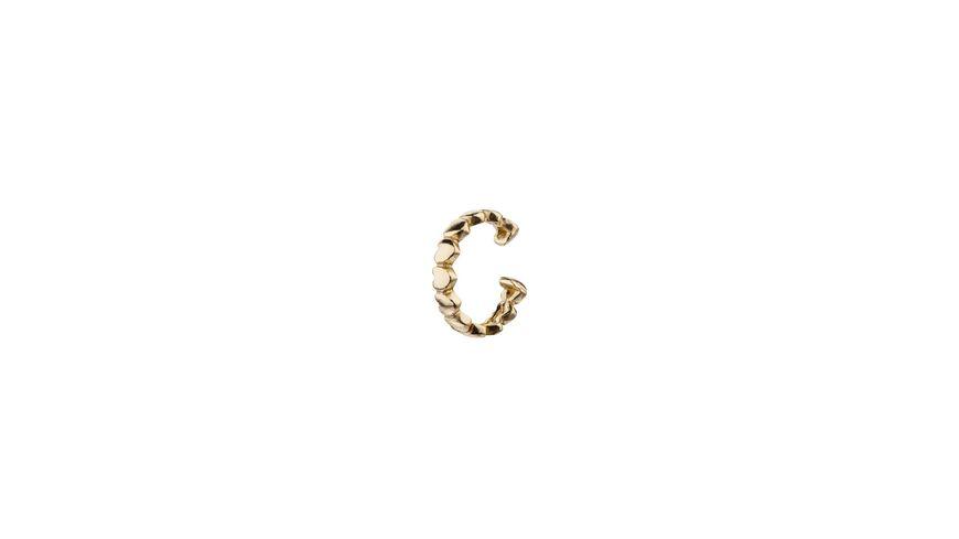 SIX Earcuff aus vergoldetem 925er Silber mit Herzen