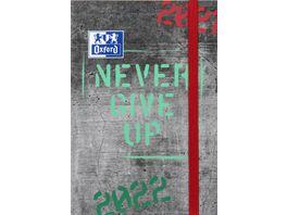 Oxford Schuelerkalender Never Give Up 12x18cm sortiert