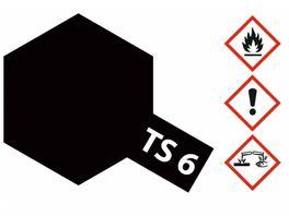 Tamiya TS 6 Schwarz matt 100ml 300085006