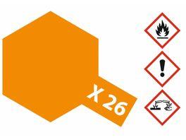 Tamiya X 26 Klar Orange glaenzend 23ml 300081026