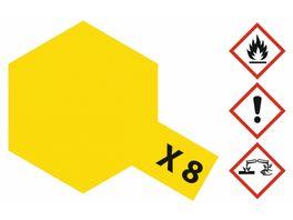 Tamiya X 8 Zitronen Gelb glaenzend 23 ml 300081008