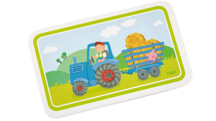 HABA Brettchen Traktor, Kindergeschirr 302816