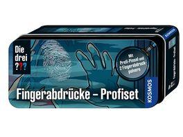 KOSMOS Die drei Fingerabdruecke Profiset Mit Profi Pinsel und 2 Fingerabdruckpulvern