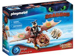 PLAYMOBIL 70729 Dragons Dragon Racing Fischbein und Fleischklops