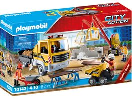 PLAYMOBIL 70742 City Action Baustelle mit Kipplaster