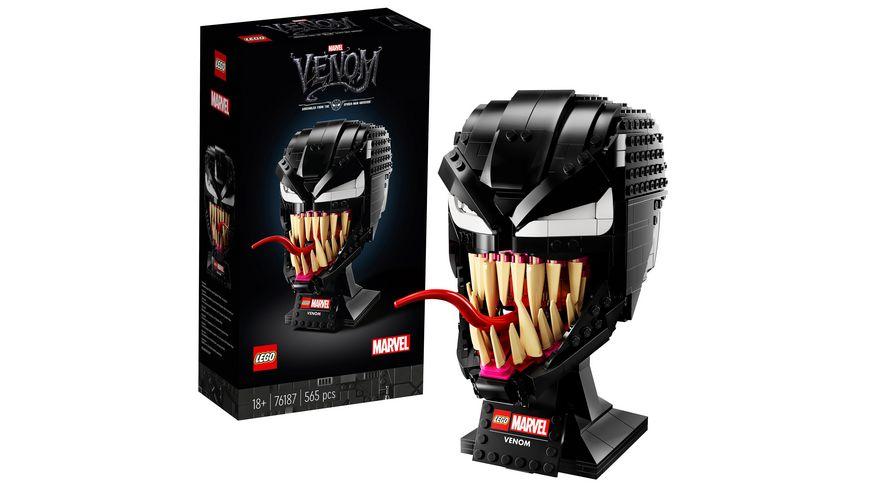 LEGO 76187 Marvel Spider-Man Venom Maske Bauset für Erwachsene