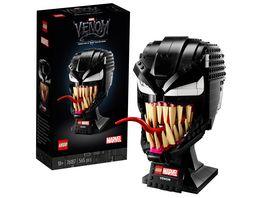 LEGO 76187 Marvel Spider Man Venom Maske Bauset fuer Erwachsene