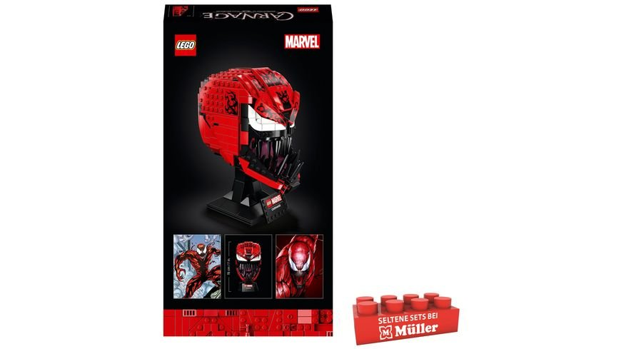 LEGO 76199 Marvel Spider-Man Carnage Maske Bauset für Erwachsene