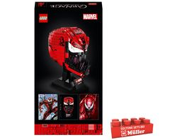 LEGO 76199 Marvel Spider Man Carnage Maske Bauset fuer Erwachsene
