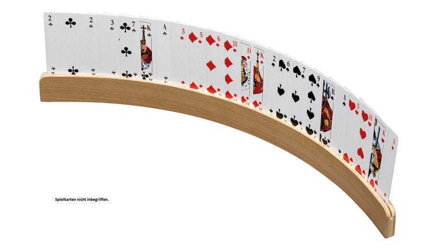 Philos-Spiele Spielkartenhalter aus Holz, 50cm ohne Spielkarten 6695
