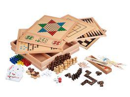 Philos Spiele Holz Spielesammlung 100 Premium Edition FSC 100 3101