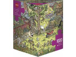 Heye Dreieckpuzzle 1000 Teile Garden Adventures Cartoon im Dreieck 299330