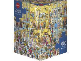 Heye Dreieckpuzzle 1000 Teile Hotel Life Cartoon im Dreieck 299279