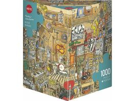 Heye Dreieckpuzzle 1000 Teile Music Maniac Cartoon im Dreieck 299286