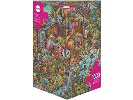 Heye Dreieckpuzzle 1500 Teile Fun With Friends Cartoon im Dreieck 299293